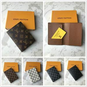 Luxuxfrauen Leder Paßabdeckung Kreditkarteninhaber Männer Geschäft Paßhalter Portemonnaie Abdeckungen für Pässe carteira masculina mit box0