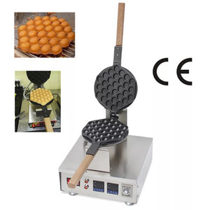 Ticari Kabarcık Waffle Makinesi Yapışmaz Dijital Hong Kong Dondurma Yumurta Waffle Maker Elektrikli Snack Ekipmanları