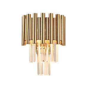 gold wall lamp modern crystal sconce AC110V 240V Kristall-Wandleuchte living room bedroom LED lights