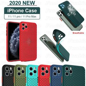 Dissipation thermique Mesh Phone Housse pour iPhone Pro 11 Max X XR Xs Max 7 8 Plus TPU en silicone respirant Retour cas