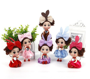 Manufacturer's direct selling Korean 12cm Hengchao Barbie puzzle baby key chain pendant baby enamel toy