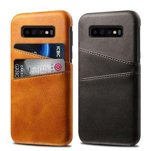caso de telefone de couro premium para Samsung Galaxy S S10 Lite S10 S10 mais fino de protecção para iPhone XS 7 mais com slot para cartão