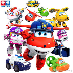Mini Figures Robots Super Wings 17 New Characters Single Transforming Airplane Animation Toy Kids Boys Girls Christmas Gifts 3T+
