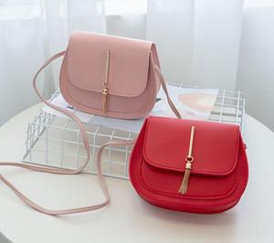 2020 Designer Handbags New Tassel Small Round Bag Ladies Crossbody Female Saddle Bag Best Selling