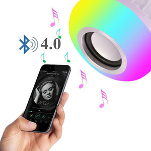 Crestech 12W potencia E27 LED RGB Bombilla altavoz Bluetooth de música ligera de la lámpara de iluminación RGB Jugando con control remoto