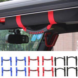 Rouleau Barre à montage latéral Poignées Grab Handle Kit 4 portes pour Jeep Wrangler JK 2007-2017 Factory Outlet Haute quatlity Auto Accessoires interne