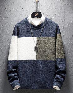 Vêtements hommes Mulit Couleur lambrissé Hommes Designer Pull Mode desserrées Pull Hommes Pull à manches longues