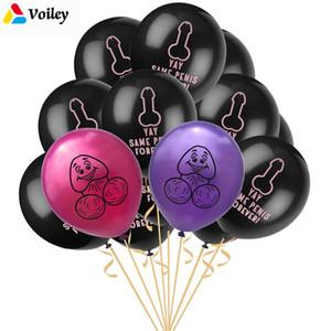 VOILEY 12 adet YAY Aynı Penis Sonsuza Mektup Balonlar Dekorasyon Evlilik Yetişkin Seks Parti Malzemeleri Tavuk Düğün Parti Süslemeleri, 7