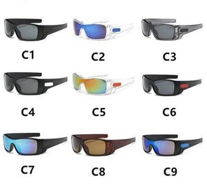 9 색 플라스틱 스포츠 태양 안경 남성과 여성 사이클링 선글라스 없음 인쇄 단어 무료 배송