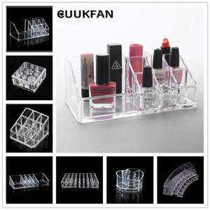 Acrílico cosmética caja de maquillaje cosméticos del organizador Organizador almohadillas de algodón de contenedores caja para el maquillaje de acrílico del lápiz labial