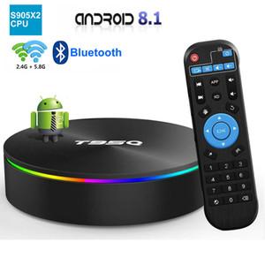 T95Q Amlogic S905X2 Android 8.1 Smart TV BOX 4GB 32GB / 64GB Suporte 2.4G + 5G dupla Wifi Bluetooth 4.1 VS TX6 TX3