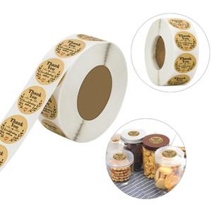 500pcs Nous vous remercions de célébrer avec nous Autocollants de mariage de fête d'anniversaire de décoration Bouteille Seal Labels Olive Branch Hand Made