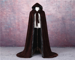 Shawl Party Queen Elegant Pageant Velvet Cloak Velvet Outdoor cloak Halloween Hooded Fur Cloak Autumn Fashion Coat
