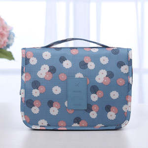 New Colourful Foldable Travel Collection Washing Bag Hanging Washing Bag Finishing Cosmetic flower makeup women fashion