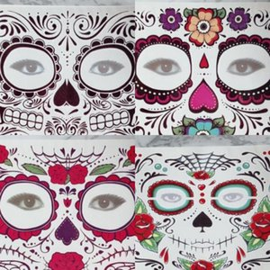 Halloween Face Tattoo Sticker Facial Part Prevent Water Tattoos Stickers Dancing Party Multi Styles Faces Paster 0 7ws L1