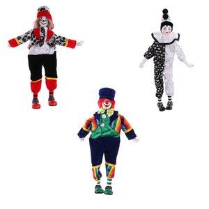 3 Set 15 pouces adorable porcelaine Hanging Pied Clown Doll Harlequin Doll Festival du Cirque Props cadeau Home Office Ornements