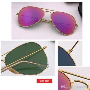 2019 new summer hot sale Mirror aviation Sunglasses Men Women Vintage Design Oculos de sol masculino brand UV400 gafas 55mm 58mm 62mm