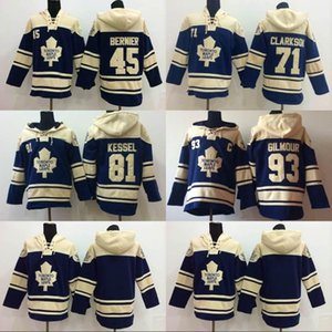 Toronto Ahornblätter Hoodies 45 Jonathan Bernier 71 David Clarkson 81 Phil Kessel 93 Doug Gilmour Hockey Hoodies Sweatshirts