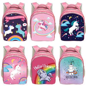 Fantasie-Tier Bunte Einhorn-Rucksack Angel Cat Mädchen Bookbag Jungen Schultaschen Kinderrucksäcke für Heranwachsende Mädchen-Buch-Tasche