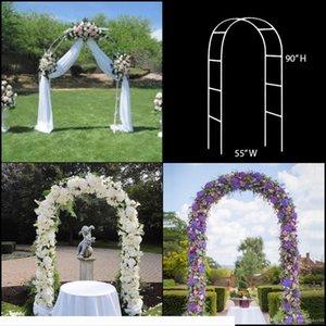 Stahlrohrmaterial Hochzeit Arch Pergola Garten Metall Kulisse Standplatz für Hochzeit Geburtstag, Hochzeit, Party-Dekoration DIY Bogen