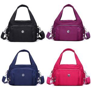 Women Casual Anti-Theft Multi-Layer Large Capacity Waterproof Nylon Shoulder Bag Travel Light Messenger Bag