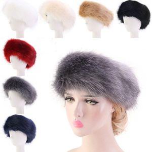 الأذن فو الفراء رباطات في الهواء الطلق تدفئة واقيات للتزلج قبعة الشتاء الدافئة Hairbands مطاطا رئيس الأغطية اكسسوارات أنيق للمرأة O48FZ