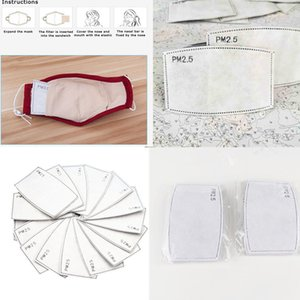 PM2 5 masques filtrants 5 couches filte de carbone P2,5 Anti Haze bouche Masques filtres remplaçables pour activer Masque carbone Équipement de protection Utilisation