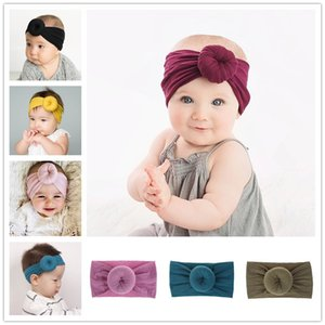 Lovely 2020 Baby girls Knot Ball Headbands Kids Boys hair band Children Headwear Boutique hair accessories 21 colors Baby Turban A1013
