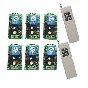 Verici Receiver akıllı ev z dalga röle teleswitch DC 12V 1CH 10A kablosuz uzaktan kumanda anahtarı sistemi