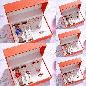 Ceas Femei Fashion Women Dress Watches CUSSI Womens Watches Quartz Wristwatch Set Rose Gold Bracelet Bangle For Sale#417
