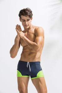 Traje de baño de verano Imprimir cortocircuitos de la manera masculino con paneles corto Casual para hombre ropa de cintura elástica Diseñador Bañador de natación