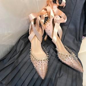 OllyMurs 2020 Новая мода женская обувь Pink заклепок