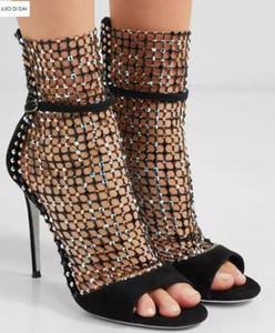 2019 donne di modo glitter boots POINTED TOE STIVALI STIVALI sexy strass booties partito scarpe signore diamante mujer botas