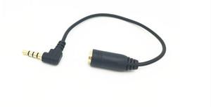 15 см 90 градусов прямоугольный 3 5 мм 4pole аудио стерео мужчин и женщин удлинительный кабель бесплатная доставка высокое качество 2019 Оптовая горячие продать новый