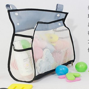 Bath Toys Kids Baby Tidy Storage Suction Cup Bag Bathroom Bathtub Doll Hanging bag Cup Basket Mesh Storage Water toy
