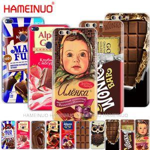 alenka barra de chocolate Wonka caja del teléfono de la cubierta para Huawei Ascend P7 P8 P9 P10 P20 Lite además G7 G8 Pro 2017 compañero de 10 Lite