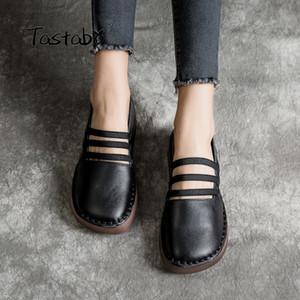 Tastabo Zapatos de cuero suaves con fondo 2019 Mocasines Zapatos de mujer Nueva llegada Trabajo Zapatos de conducción Mujeres Cómodo