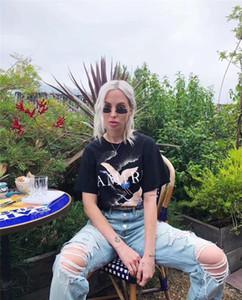 Moda-AMIRI Tişörtler Yaz Vinç Tasarımcı Tişörtler Düz Yangın Vinç Beyaz Erkekler Kadınlar Siyah Tees Pamuk Kahraman Man Ucuz Giyim