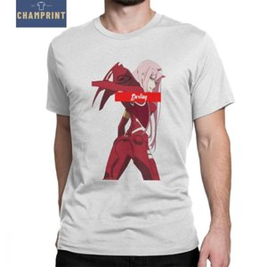 Man Darling In The Franxx T Shirt Zero Two Laser Scene Leisure Short Sleeve Tees Anime Manga Tops Cotton Summer Style T-Shirt