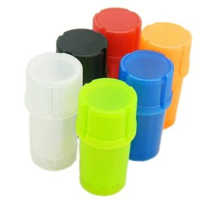 Plastic Grinder Bottle Shape Smoking Pipes Multi-function Herb Spice Grinding Crusher Storage Container Case #238610