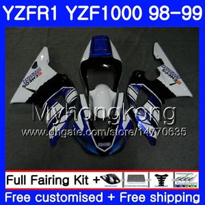 Кузов для YAMAHA YZF R 1 YZF1000 YZF-R1 1998 1999 рама 235HM.37 YZF-1000 YZF R1 98 99 YZF 1000 yzfr1 98 99 обтекатель кузова Белый завод