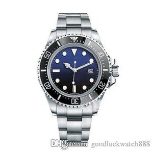 2019 Garde de design de 44mm Top noir Master Black Bleu Mechanical Mechanical Watch Series Series Acier 116660 Plongée Diving SSNLC