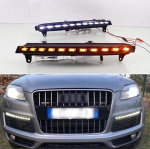 Für Audi Q7 2006 2007 2008 2009, Gelb Drehen Signal-Licht-Auto-DRL wasserdicht 12V LED Tagfahrleuchte Nebel-Lampen-Birne