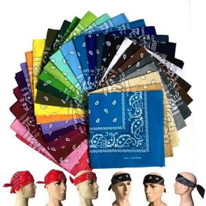 Neueste Hip-Hop-Baumwolle mischt Qualität Bandanas für Männer Frauen-Magie-Hauptschal Schals Armband Kerchief Platz 55cm * 55cm M011