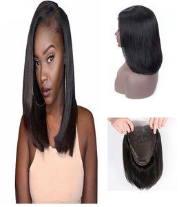 New Fashion Designer Court Bobo droite 4 * 4 Lace Front perruques de cheveux humains Hot vente tête Ensemble complet Remy brésilien Cheveux noirs naturels