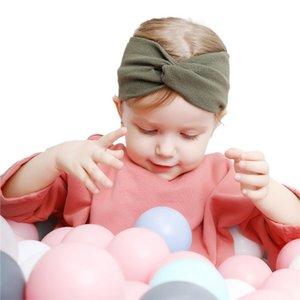 Simple Sweet Girls Bow Knot Toddler Newborn Infant Cross Flower Ear Headbands Baby Hairbands Kids Headwear Children Hair Bands