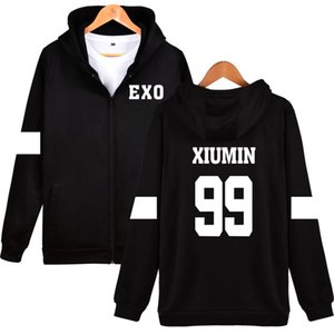Luckyfridayf Kpop Exo Kapuzenpullover Frauen Koreanische Beliebte Hip Hop Wintermantel Mode Frauen Hoodies Sweatshirts Casual Kleiden