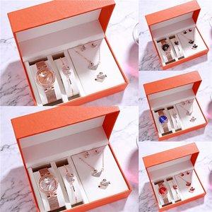 BS abeja de la hermana reloj de las mujeres de moda de alta calidad casual impermeable del acero inoxidable Reloj de pulsera Conjunto Señora reloj de cuarzo regalo para la esposa 2020 # 101