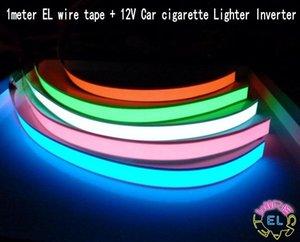 1е 12 инвертора Гибкой EL лента Light Glow EL Wire Rope кабель водить фары 12V автомобильного прикуриватель украшения инверторного