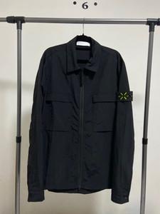 20ss Avrupa akım yeni büyük boy ceket fermuar tasarımcı Retro lüks ceketler erkekler ceket İthal metal naylon su geçirmez nefes alabilen YKK mens